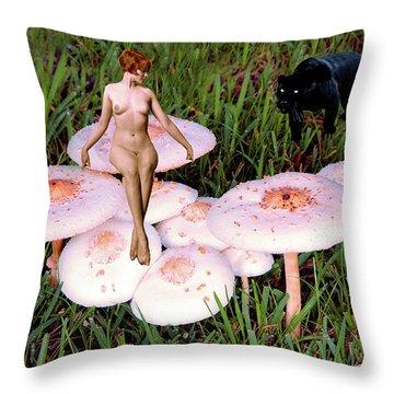 Angoisse Feminine#1 Throw Pillow