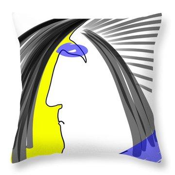Angry 3 Throw Pillow