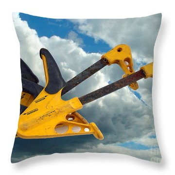 Throw Pillow featuring the digital art Angry Birds Clamps by Lyric Lucas