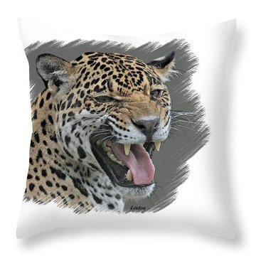 Angry Cat Throw Pillow
