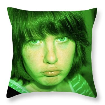 Angry Envy Throw Pillow by Jane Autry
