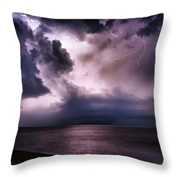 Angry Heavens Throw Pillow