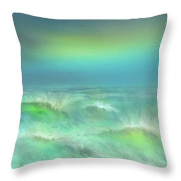 Angry Irma Throw Pillow