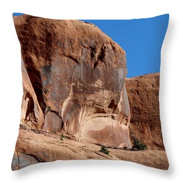 Throw Pillow featuring the photograph Angry Rock - 2  by Christy Pooschke