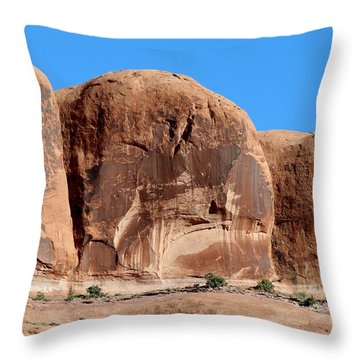 Throw Pillow featuring the photograph Angry Rock - 3  by Christy Pooschke