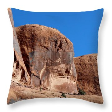 Throw Pillow featuring the photograph Angry Rock  by Christy Pooschke