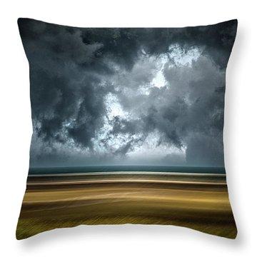Angry Sky Throw Pillow