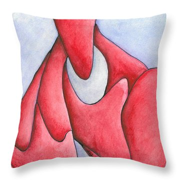 Angry Thoughts Throw Pillow