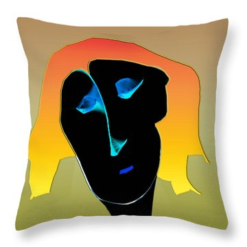 Throw Pillow featuring the digital art Anguish by Asok Mukhopadhyay