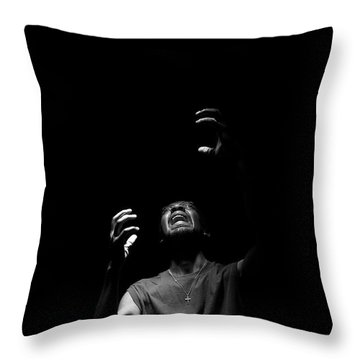 Throw Pillow featuring the photograph Anguish by Eric Christopher Jackson
