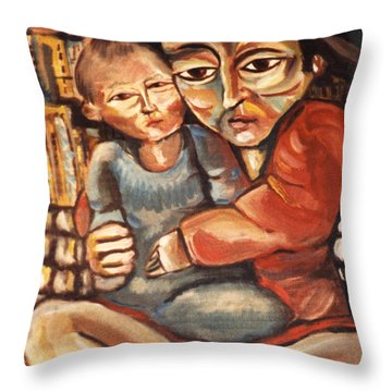 Anguish Throw Pillow by John Keaton