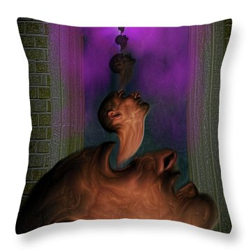 Anguish Throw Pillow by Mimulux patricia no No