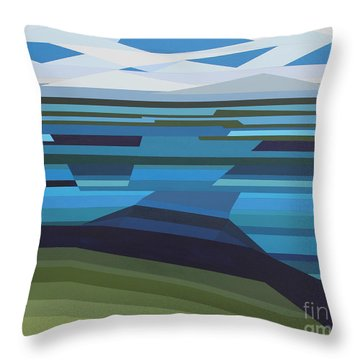 Angular Lake Throw Pillow
