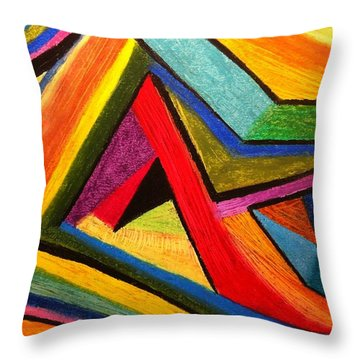 Angular Pull Throw Pillow