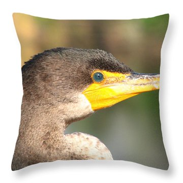 Anhinga Blue Eye Throw Pillow