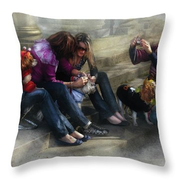 Animal - Dog - How To Humiliate A Dog Throw Pillow by Mike Savad