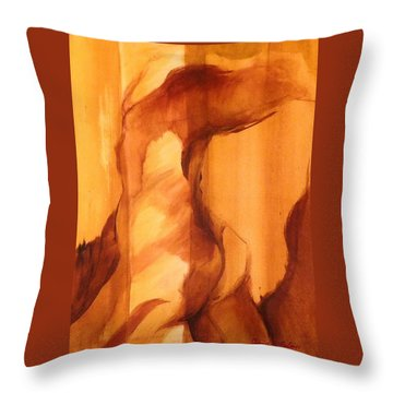 Throw Pillow featuring the painting Animal by Denise Fulmer
