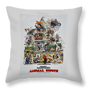 Animal House  Throw Pillow