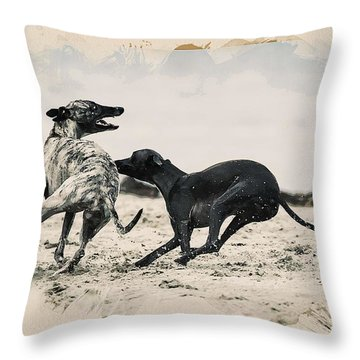 Animal Kingdom Series - Hunting Dogs Throw Pillow