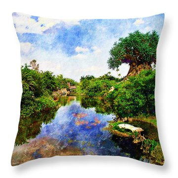 Animal Kingdom Tranquility Throw Pillow
