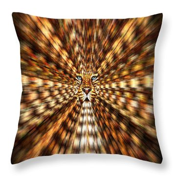 Throw Pillow featuring the painting Animal Magnetism by Paula Ayers