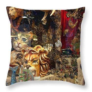 Animal Masks From Venice Throw Pillow