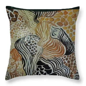 Animal Print Floor Cloth Throw Pillow