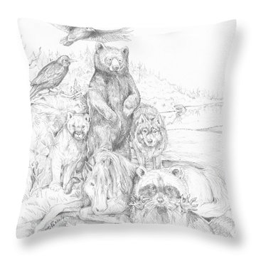 Animal Wisdom Throw Pillow