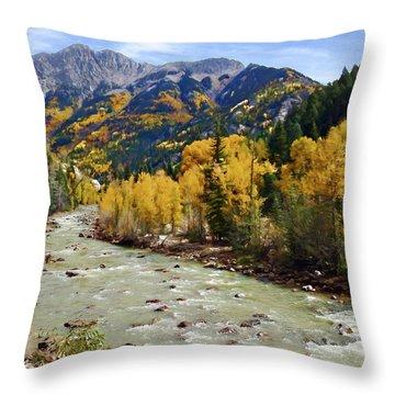Throw Pillow featuring the photograph Animas River San Juan Mountains Colorado by Kurt Van Wagner