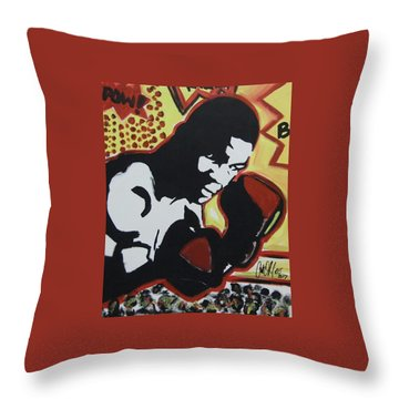 Animated Mike Throw Pillow