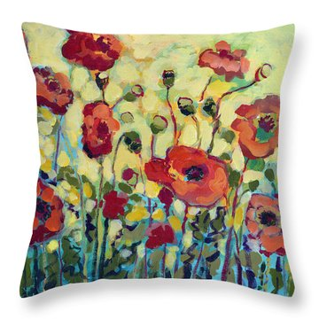 Anitas Poppies Throw Pillow