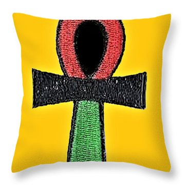 Ankh Life Throw Pillow