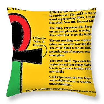 Ankh Meaning Throw Pillow