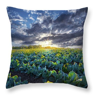 Ankle High In July Throw Pillow