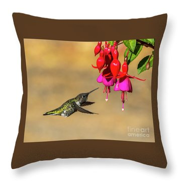 Anna And Hardy Fuchsia Flower Throw Pillow