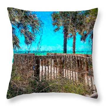 Anna Maria Boardwalk Access Throw Pillow