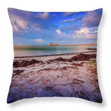 Anna Maria City Pier Throw Pillow