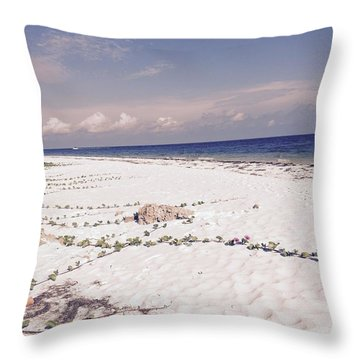 Throw Pillow featuring the photograph Anna Maria Island Beyond The White Sand by Jean Marie Maggi