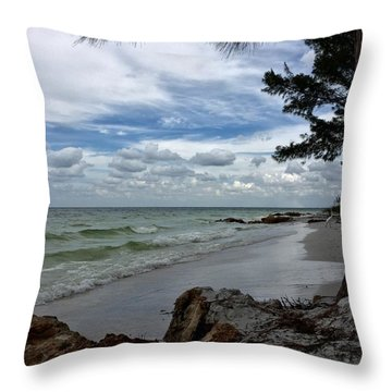 Throw Pillow featuring the photograph Anna Maria Island  by Jean Marie Maggi
