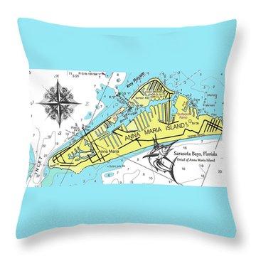 Anna Maria Island Throw Pillow