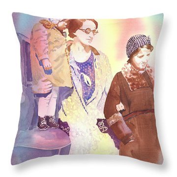 Anna Nation And Her Girls, 1932      Throw Pillow