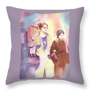 Anna Nation And Her Girls, 1932      Throw Pillow by Tara Moorman