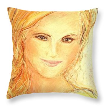 Anna Paquin Throw Pillow