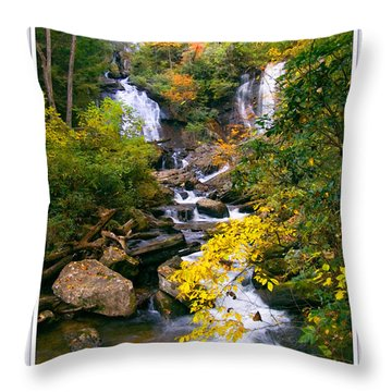 Anna Ruby Falls Throw Pillow by Peter Muzyka