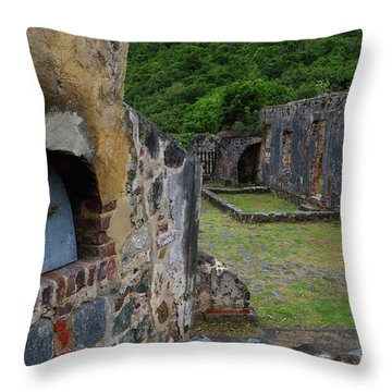 Throw Pillow featuring the photograph Annaberg Sugar Mill Ruins At U.s. Virgin Islands National Park by Jetson Nguyen