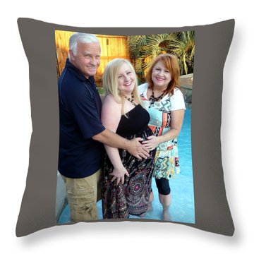 Annah With Parents Throw Pillow