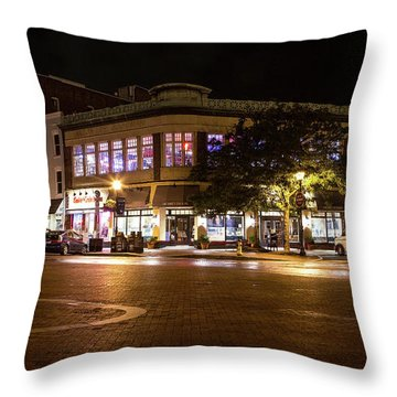 Annapolis At Night Throw Pillow