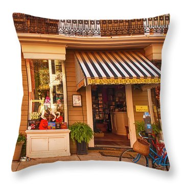 Annapolis Bookstore Throw Pillow