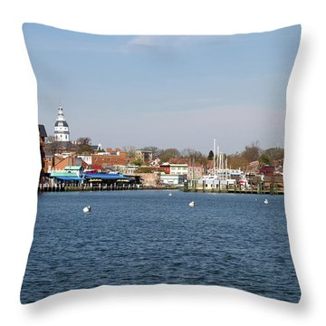 Annapolis City Skyline Throw Pillow