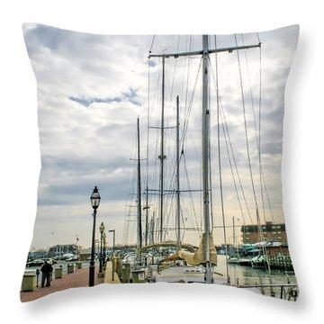 Annapolis Harbor  Throw Pillow